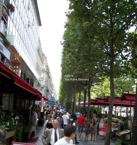 The Paris Itinerary: Champs Elysee sidewalk