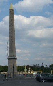 Entrance to Jardin des Tuileries at the Place de la Concorde.